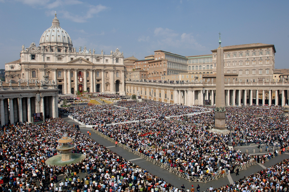 Photo of Crowd in Rome for Mass